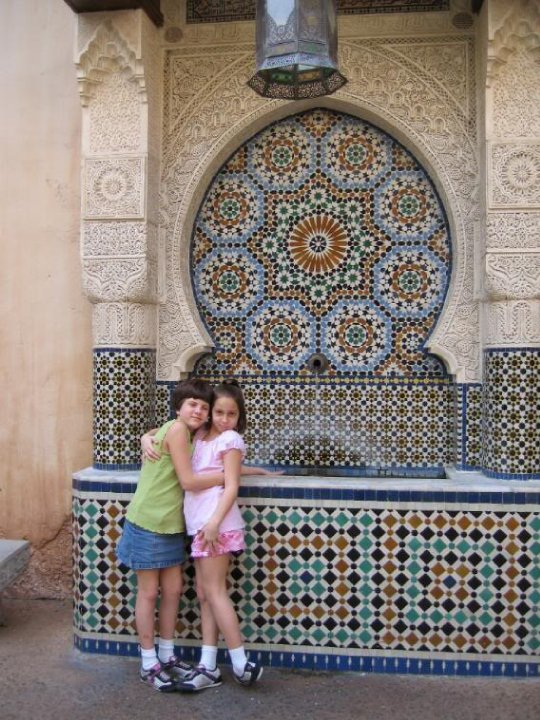 I can't remember if this was in Morocco or Italy but this is one of my favorite pictures of my girls.