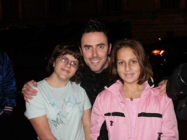 Glen Power of The Script and my two daughters.